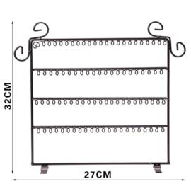 Zwart rekje voor oorbellen | H 32 cm / B27 cm