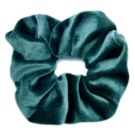 Scruncies haarelastiek | Velvet petrol green.