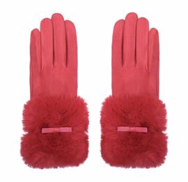 Heerlijke warme rode handschoenen.
