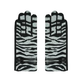 Handschoenen met zebraprint.