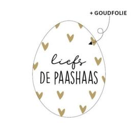 Cadeaustickers LIEFS DE PAASHAAS | 10 stuks
