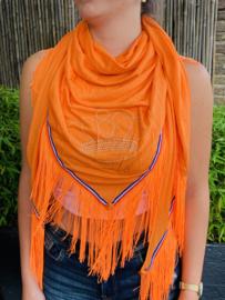 Oranje sjaal | EK sjaal | Koningsdag sjaal met kroontje