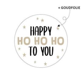 Cadeau sticker | Happy HO HO HO to you