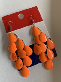 Grote oranje oorbellen | EK oorbellen |  oorbellen voor Koningsdag