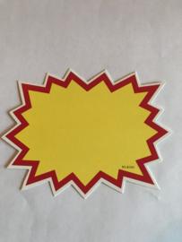 10 stuks prijskaarten afmeting: 17 x 13 cm.