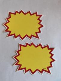 10 prijskaarten afmeting 9 x 12 cm