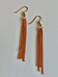 Oranje oorbellen voor Koningsdag