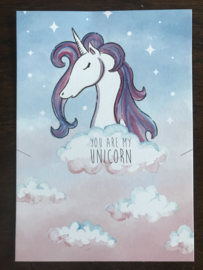 Cadeaukaart YOU ARE MY UNICORN