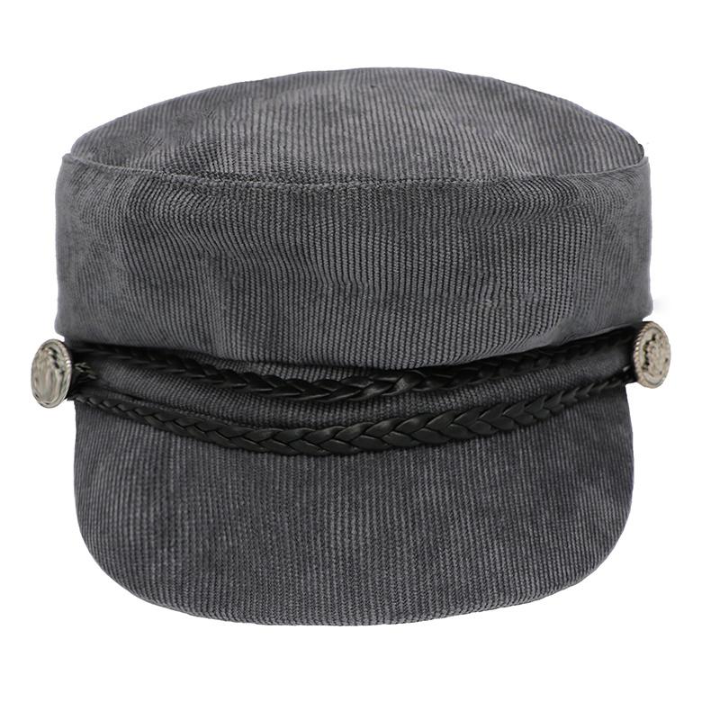 Trendy sailor pet / kleur grijs met zwart.