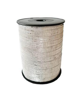 Zilver glitter lint   10 mm breed