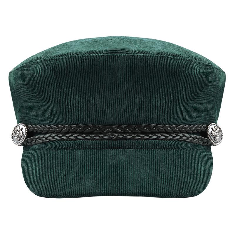 Trendy groene sailor pet.