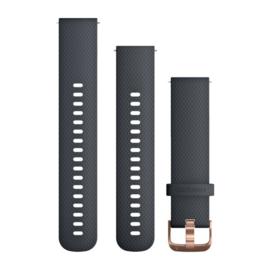 Granietblauwe/rozegouden silicone band