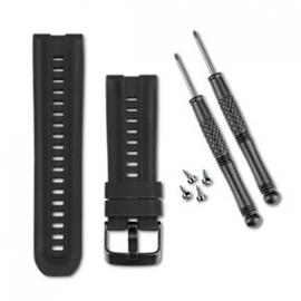 Siliconenband (zwart) voor uw GPS+ABC-horloge