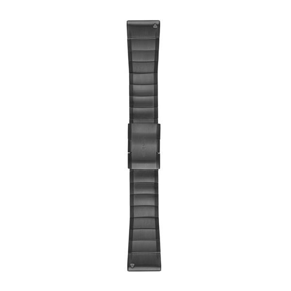 QuickFit™ 26 horlogebandjes (donkergrijs roestvrij staal)