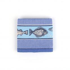 Theedoek Fish Royal blue