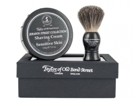 Taylor of Old Bond Street Giftbox Pure Badger & Shavingcream 150g Jermyn str.
