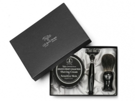 Taylor of Old Bond Street Pure Badger Scheerkwast, Scheermes & Shavingcream 150g Jermyn Street Collection