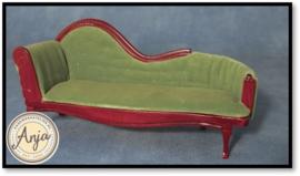 DF874 Chaise longue groen mahonie