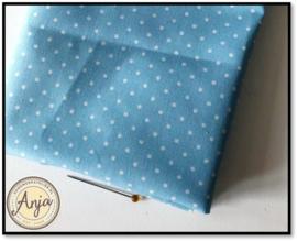 PR5819-14 Polka dot blauw wit