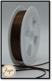 214 Brown Satijn lint 1.5 mm