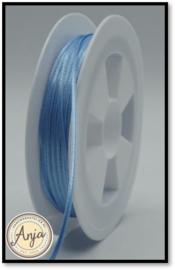 262 Blue Satijn lint 1.5 mm
