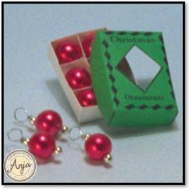 D1769 - Doosje rode kerstballen
