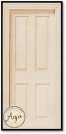DIY049 binnendeur blankhout