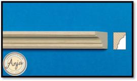 7017 Plafondlijst blankhout per 6