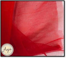 TKG0420-07 Fijne sluier tule Rood