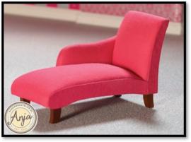 7232 Chaise Longue donker roze