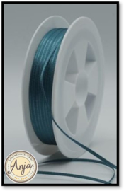 296 Dark Teal Satijnlint 1.5 mm