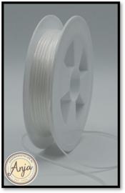 201 White Satijn lint 1.5 mm