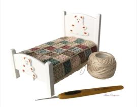 Granny deken gehaakt (pakket)