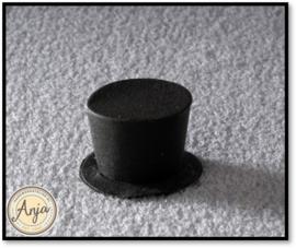 6135 Zwarte hoge hoed