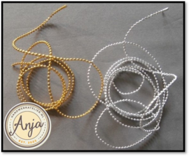AB25 kralenkoord zilver & goud