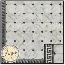 34735 White Marble With Black Stones