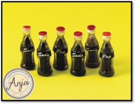D1865 Cola flessen per zes