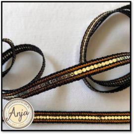 Band zwart/goud Lurex B0521-02