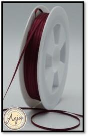 300 Burgundy Satijn lint 1.5 mm
