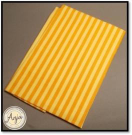 HWA001 Oranje geel gestreept katoen