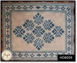 HD8009 Borduurpakket Vloerkleed Lelie Blauw