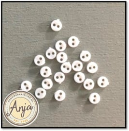 4 mm knoopjes Wit