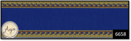 6658 Navy & Gold Edged Stair Carpet
