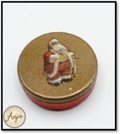 A70823 Kersttrommel met goud deksel