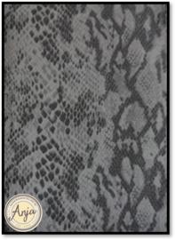 lapje  nepleer slangenprint grijs (H)
