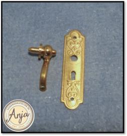 Deurklink met deurplaat DIY665