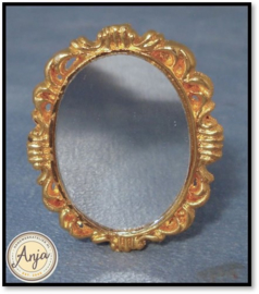 D2272 - Antiek messing  spiegel