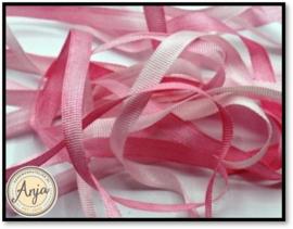 V008 Zijdelint Pink verlopend
