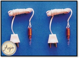 FA019010 Kaarslampje met draad en stekker per 2