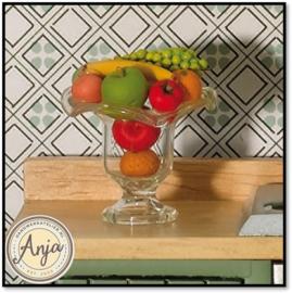 3594 Glazen fruitschaal